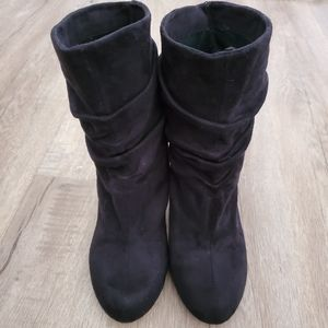 Bakers slouch heeled boots